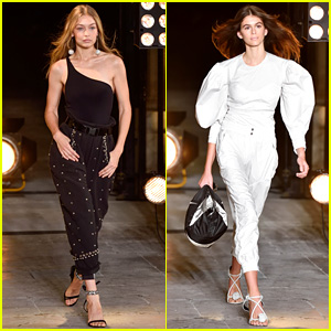 Gigi Hadid & Kaia Gerber Hit the Runway at Isabel Marant Show