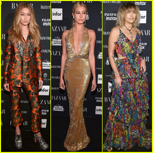 Gigi Hadid, Hailey Baldwin & Paris Jackson Shine Bright at 'Harper's Bazaar' Party