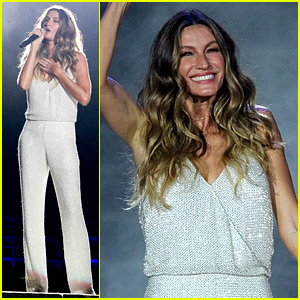 Gisele Bundchen Tears Up at Rock in Rio, Sings 'Imagine' Live on Stage (Video)