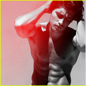Gregg Sulkin Goes Shirtless & Flashes His Abs for RAW
