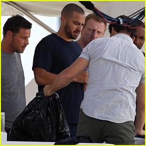 Grey's Anatomy's Male Stars Enjoy a Fun Boys Day on a Boat!