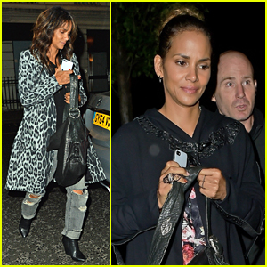 Halle Berry Rocks Leopard Print for Dinner in London