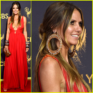 Heidi Klum is Red-Hot & Boho Chic at Emmy Awards 2017