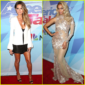 Heidi Klum & Tyra Banks Work the 'America's Got Talent' Red Carpet!
