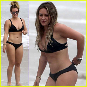 Hilary Duff Hits the Beach in Her Bikini on Labor Day!