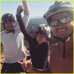 Ian Somerhalder & Nikki Reed Go Mountain Biking to Start Off Their Day