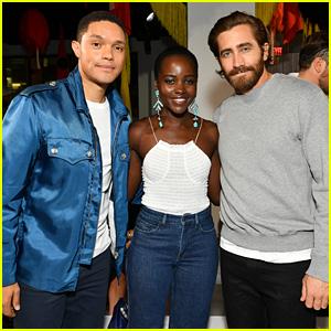 Jake Gyllenhaal & Lupita Nyong'o Hang with Trevor Noah at Calvin Klein's NYFW Show!