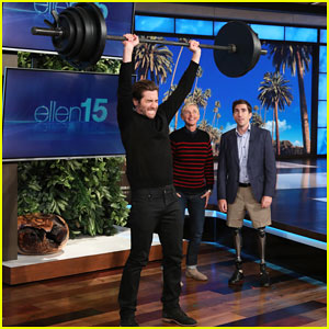 Jake Gyllenhaal Takes On Ellen's Boston Strongman Challenge for Charity - Watch Below!