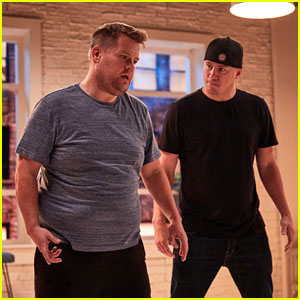 Channing Tatum Trains James Corden for 'Magic Mike Live' - Watch Now!