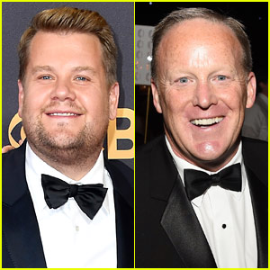 James Corden Responds to Backlash Over Sean Spicer Kissing Pic