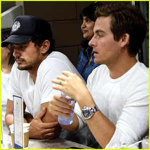 James Franco & Kevin Zegers Hang Out at U.S. Open Match