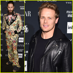 Jared Leto & Sam Heughan Continue the NYFW Fun at Harper's Bazaar Party
