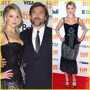 Jennifer Lawrence & Javier Bardem Screen 'mother!' at TIFF