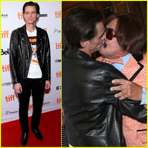 Jim Carrey Makes Out with Andy Kaufman Impersonator at TIFF Premiere!