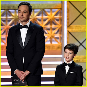 Jim Parsons' 'Young Sheldon' Star Iain Armitage Joins Him at Emmys 2017!