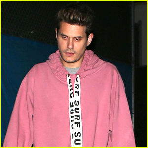 John Mayer Rocks a Pink Hoodie for Dinner at Craig's