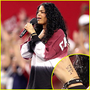 Did Jordin Sparks Send a Message During National Anthem Performance?