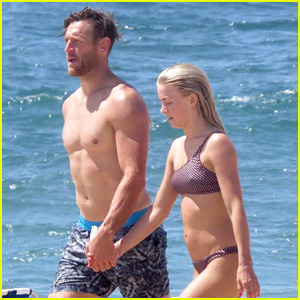 Julianne Hough & Husband Brooks Laich Show Off Hot Beach Bodies!