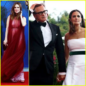 Julianne Moore & Other Stars Battle Wind & Rain at Venice Film Festival Event