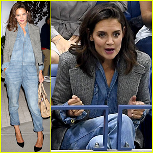 Katie Holmes Was On the Edge of Her Seat at U.S. Open Match!