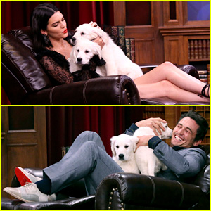 Kendall Jenner & James Franco Face Off on Tonight Show's 'Pup Quiz' - Watch Now!