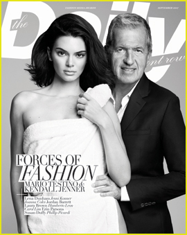 Kendall Jenner Covers 'Daily Front Row' With Mario Testino