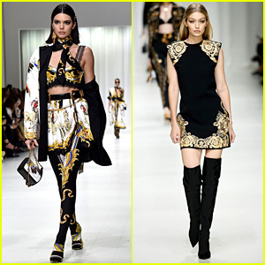 Kendall Jenner, Gigi Hadid, & More Join New Age of Models in Versace's Milan Show