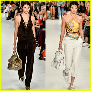 Kendall Jenner Rocks Two Looks for Tod's Milan Fashion Show