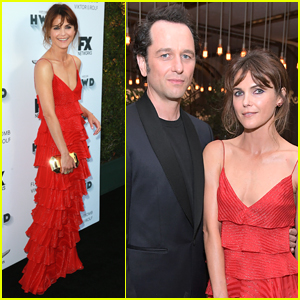 Keri Russell & Matthew Rhys Couple Up for FX Pre-Emmys Party