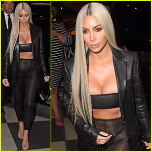 Kim Kardashian Wears Completely Sheer Leggings in New York