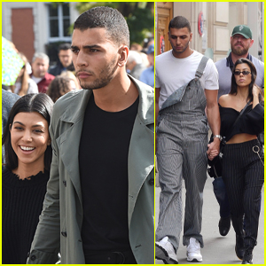 Kourtney Kardashian & Boyfriend Younes Bendjima Hold Hands While Sightseeing in Paris