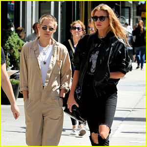 Kristen Stewart & Stella Maxwell Couple Up for Lunch Date