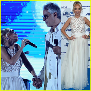 Kristin Chenoweth Sings 'The Prayer' with Andrea Bocelli at Celebrity Fight Night in Italy