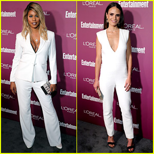 Laverne Cox & Jordana Brewster Wear White Hot Outfits at EW's Pre-Emmys Party