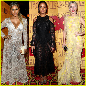 Laverne Cox, Tessa Thompson, & Julianne Hough Switch Up Looks for Emmys 2017 After Party