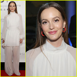 Leighton Meester Sits Front Row at Naersi Fashion Show