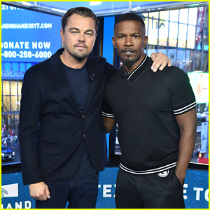 Leonardo DiCaprio & Jamie Foxx Join Forces for 'Hand in Hand' in NYC!