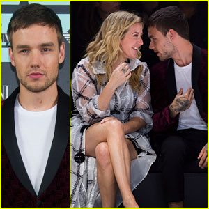 Liam Payne & Ellie Goulding Mingle at Emporio Armani Show!