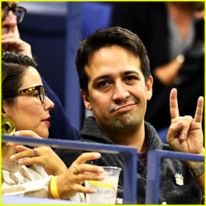 Lin-Manuel Miranda & Wife Vanessa Watch Roger Federer Play in US Open!