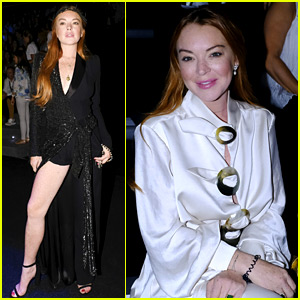 Lindsay Lohan Shows Off a Lot of Leg at Madrid Fashion Week
