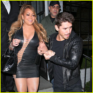 Mariah Carey Sparkles in a Sexy Dress on Dinner Date with Boyfriend Bryan Tanaka!
