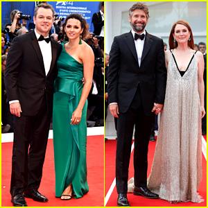 Matt Damon & Julianne Moore Make It Couples Night at 'Suburbicon' Venice Premiere!