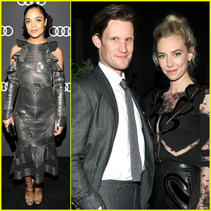 The Crown's Matt Smith & Vanessa Kirby Kick Off Emmys Weekend at Audi Party