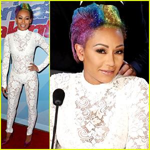 Mel B Rocks Rainbow Hair for 'America's Got Talent' Finals!