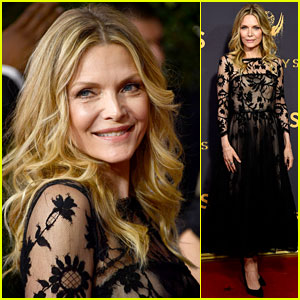 Michelle Pfeiffer Looks Beautiful in Black on the Emmys 2017 Red Carpet!