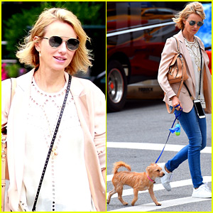Naomi Watts Takes Her Rescue Dog for a Walk Around Town
