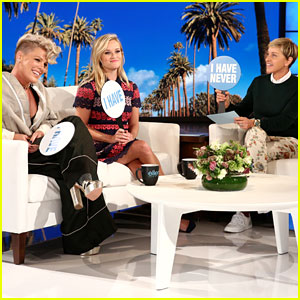Reese Witherspoon, Pink, & Ellen DeGeneres Play 'Never Have I Ever' & Dish a Lot of Dirt - Watch Now!