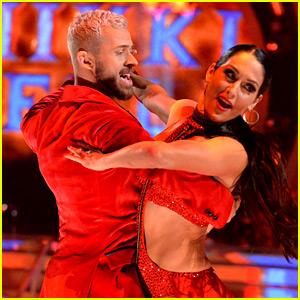 Nikki Bella Bodyslams Artem Chigvintsev During First 'DWTS' Dance! (Video)