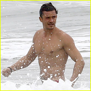 Orlando Bloom Goes Shirtless in Malibu for Labor Day Weekend
