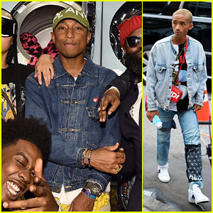 Pharrell Williams, Jaden Smith & More Look Super Fresh at G-Star Raw NYFW Presentation!